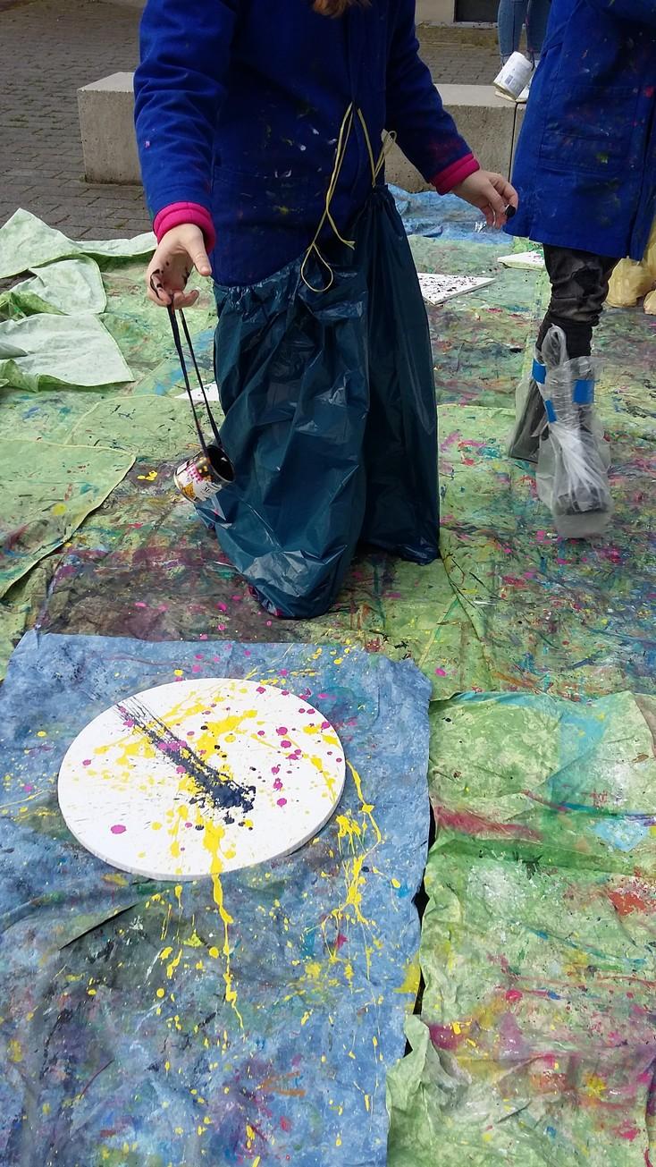 Action Painting Mit Kindern